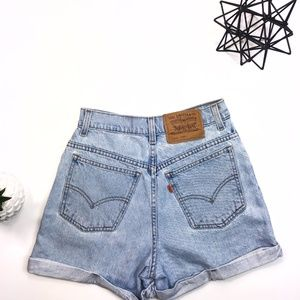 Vintage Levi Denim Shorts Size 5